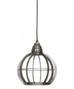 Hanglamp Ø23x24 cm BIBI ruw nikkel