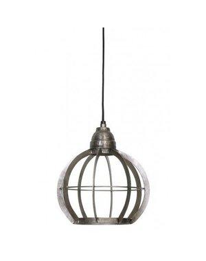 Light & Living Hanglamp Ø23x24 cm BIBI ruw nikkel