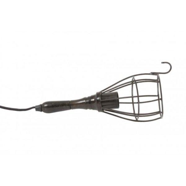 Light & Living Hanglamp Ø13x32 cm WORKER bucket zwart metaal