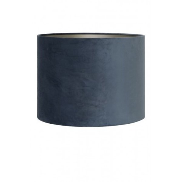 Light & Living Kap cilinderØ30 x 21 cm VELOURS dusty blue