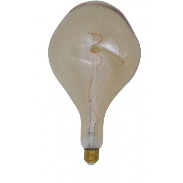 Light & Living Deco LED peer Ø16x32 cm ASYM 4W amber E27 dimbaar