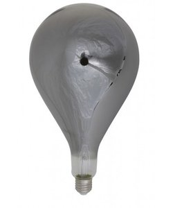 Deco LED peer Ø16x32 cm Light 4W smoke E27 dimbaar