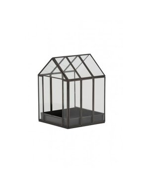 Light & Living Deco box 16x16x21,5 cm BEROGY glas-zwart