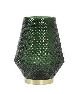 Tafellamp LED Ø12x17 cm TOVI glas donker groen