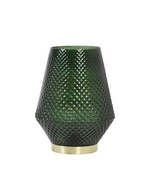 Light & Living Tafellamp LED Ø12x17 cm TOVI glas donker groen