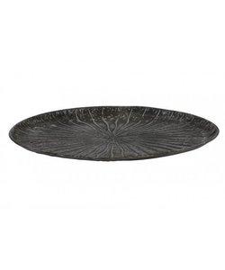 Schaal Ø31x3,5 cm HOVAG antiek zilver