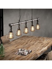 Hanglamp 5xØ12 Industrial Tube Wire