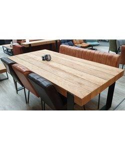 Set van eettafelbank en 3 eettafelstoelen Marvin * Echt Leer