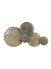 Light & Living Wandornament Mondana goud-antiek brons
