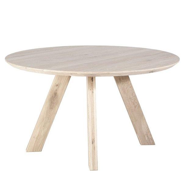 Eleonora Eettafel rond met houten poot Ø 140 cm