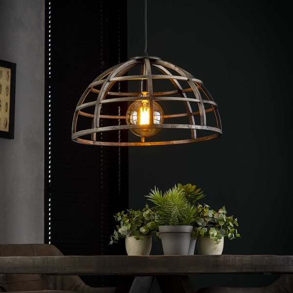 Hanglamp Ø50 dome / Oud zilver