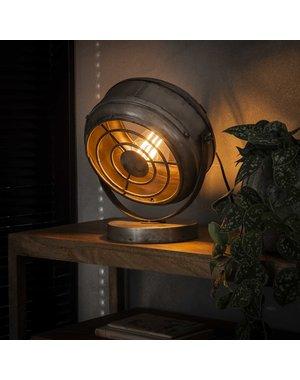 Tafellamp beam/Oud zilver
