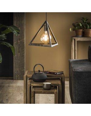 Hanglamp 1x pyramide / Charcoal