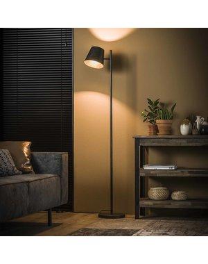 Vloerlamp 1L verstelbare metalen kap / Charcoal