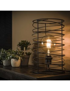 Tafellamp spiraal Ø22 cilinder / Charcoal