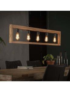 Hanglamp 5L modulo houten frame / Massief acacia naturel