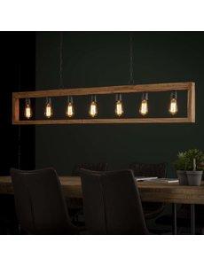 Hanglamp 7L modulo houten frame / Massief acacia naturel