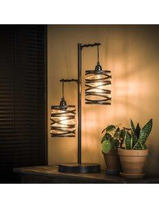 Tafellamp 2L spindle / Slate grey