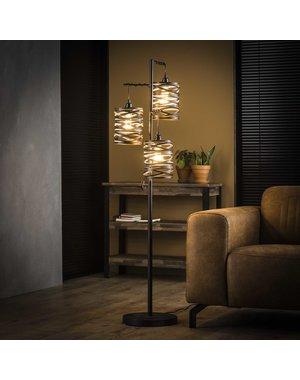 Vloerlamp 3L spindle  slate grey / Slate grey