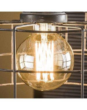 Lichtbron LED  bol Ø9 5 - E27 6W dimbaar / Amberkleurig glas 8466