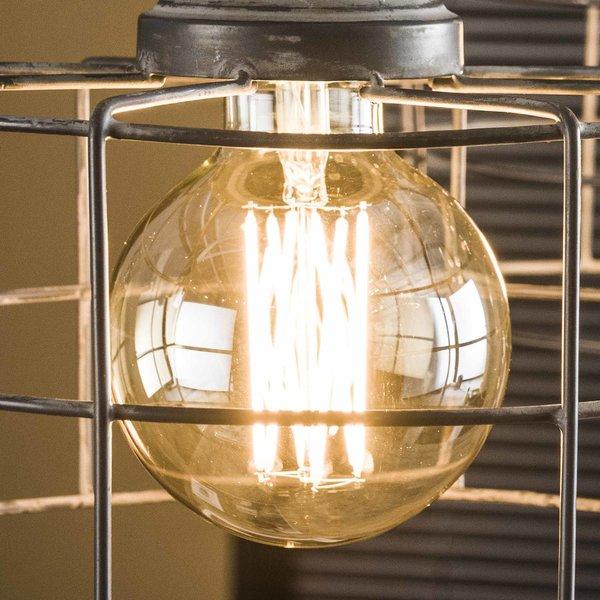 Lichtbron LED filament bol Ø9 5 - E27 6W dimbaar / Amberkleurig glas