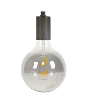 Lichtbron LED filament bol Ø12 5 - E27 6W 2100K 450lm dimbaar / Smoke grey glas