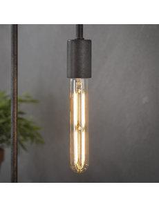 Lichtbron LED filament buis 18 5 cm - E27 4W 2100K 280lm dimbaar / Amberkleurig glas