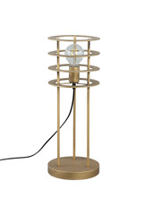 PTMD Falcon gold metal floor lamp round circles S