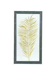 PTMD Wandpaneel - Fenix gold Glass wood box palm print 2