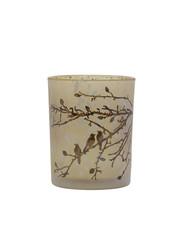 Light & Living Theelicht Ø10x12,5 cm LEFFERT glas licht bruin-donker bruin