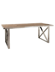Richmond Interiors  Eettafel Redmond 200x100 met kruispoten