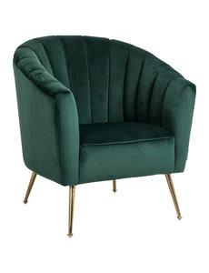 Richmond Interiors  Fauteuil Shelly Green velvet / gold