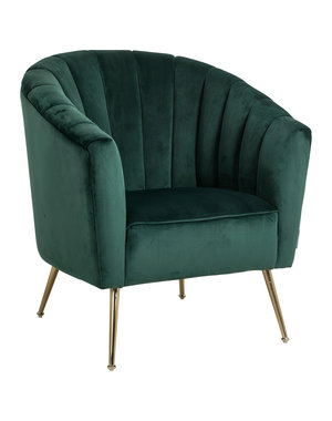 Richmond Interiors - nu 10% korting met kortingscode: Richmond * Fauteuil Shelly Green velvet / gold