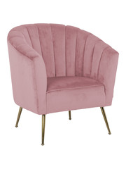 Richmond Interiors  Fauteuil Shelly Pink velvet / gold