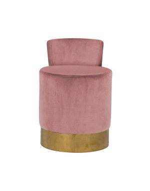 Richmond Interiors Stoel Kaylee Pink velvet
