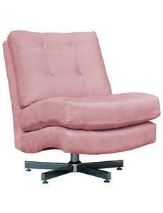 Richmond Interiors  Draaifauteuil Swinger Pink velvet / zilver