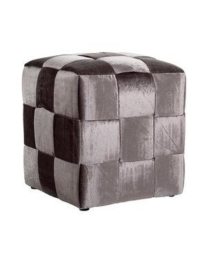 Richmond Interiors Pouffe Woven Cube 45x45 Stone Emerald