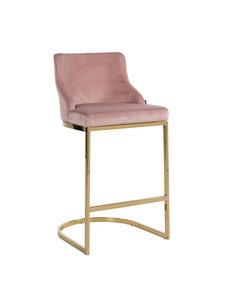 Richmond Interiors  Barstoel Bolton Pink Velvet / gold