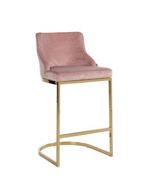 Richmond Interiors - nu 10% korting met kortingscode: Richmond * Barstoel Bolton Pink Velvet / gold