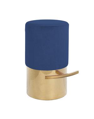 Richmond Interiors Barstoel Ivanca Blue Velvet / gold