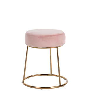 Richmond Interiors Stoel Rory Pink Velvet / goud