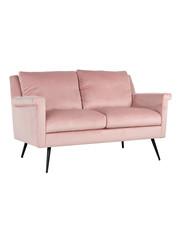 Richmond Interiors  Bank Belia 2-zits Pink Velvet