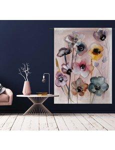 Urban Cotton Wandkleed Flowers in Soft Hues
