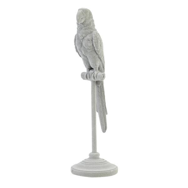 Light & Living Ornament op voet 10x10x33 cm PARROT grijs