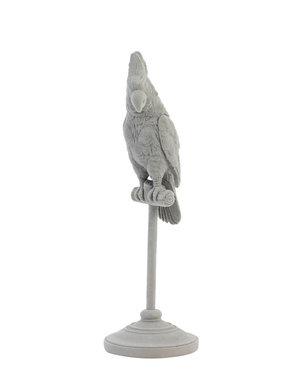 Light & Living Ornament op voet 9,5x9,5x29,5 cm PARROT grijs