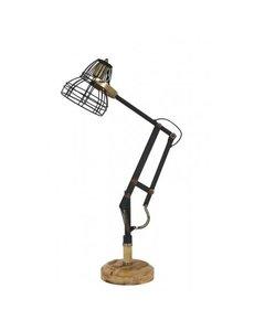 Light & Living Bureaulamp 41x19x75 cm JACKSON mat zwart-antiek brons