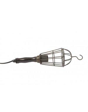 Light & Living Hanglamp Ø10x35 cm WORKER cage zwart metaal