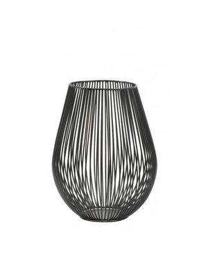 Light & Living Theelicht Ø16x20 cm VENADE mat zwart