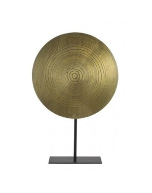 Light & Living Ornament op voet Ø40x60 cm LASIM ant brons spiraal-mat zwart