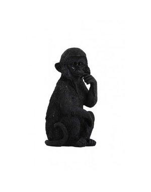 Light & Living Ornament Aap 19,5 cm zwart